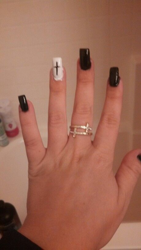 Nail Designs With Cross Choice Image Easy Nail Designs For