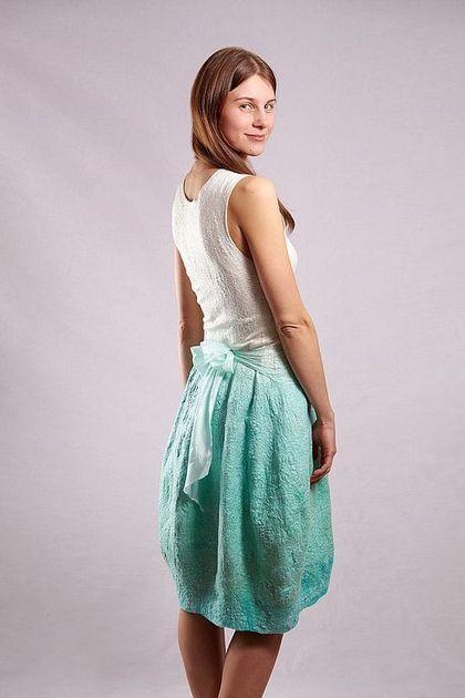 Платья ручной работы. Мятное платье. Лена Баймут. Интернет-магазин Ярмарка Мастеров. Мята, нежно-зеленый, бирюзовый