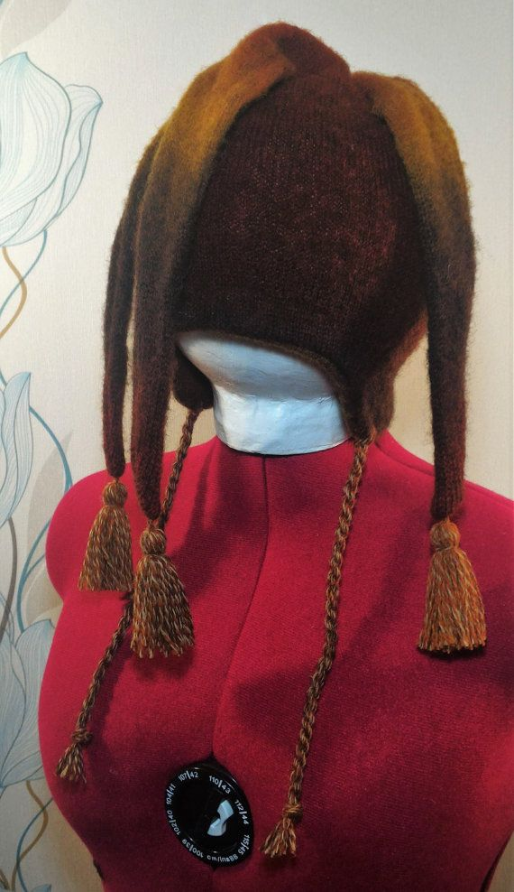 NEW SALE Multi-colored winter hats with three tails by LanaNere