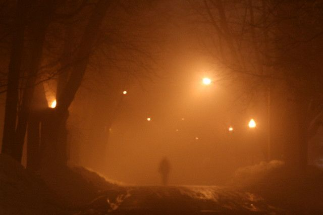 """""""Man in Fog"""" This eerie photo is by Mary Hilldore."""