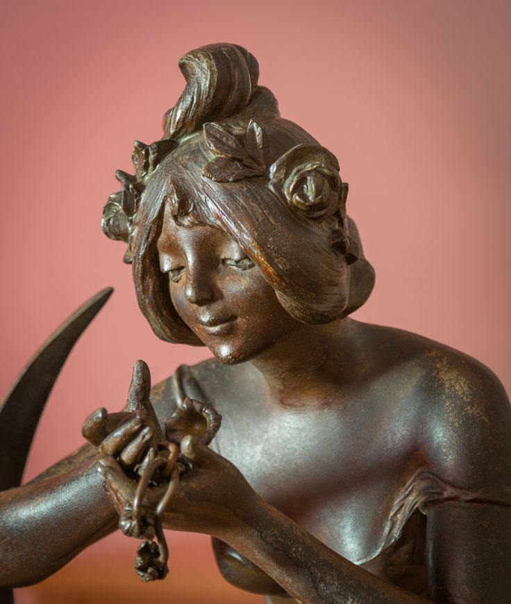 """Avril"" by Julien Caussé (spelter/marble, 59 cm)"