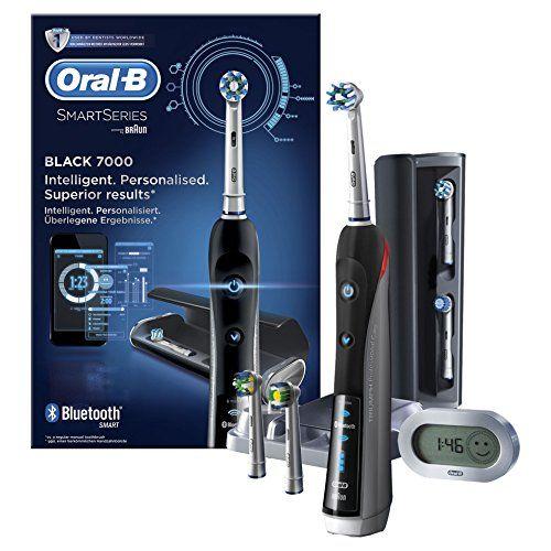 Oral-B Smart Series7000 Black Brosse à dents électrique par Braun Price:     Oral- B PRO 7000 Smart Series - le programme de soins bucco-dentaires entièrement personnalisé.La brosse ...