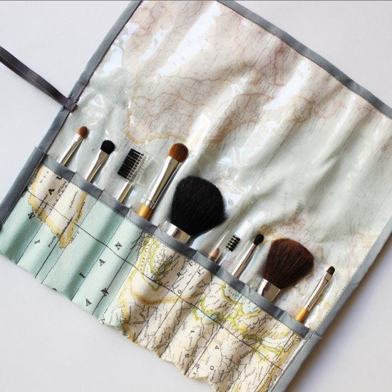 Special Brush bag with free pattern part of a DIY travel kit. Great pre summer traveling project.