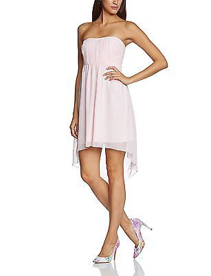 14, Rosa (Blushing Bride), VILA CLOTHES Women's Corsage Dress Sleeveless Dress N