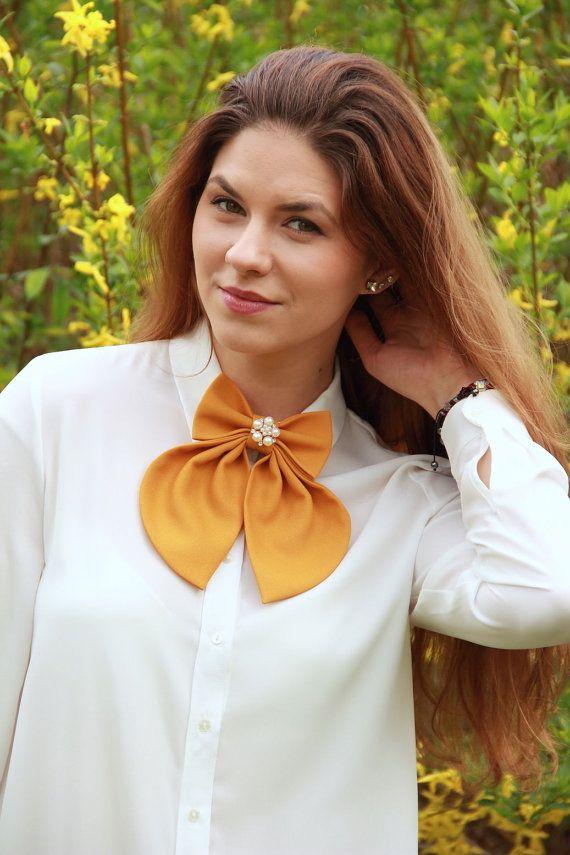Camel Matte Women's Bow Tie Genuine New by #BowsByVaniaSzasz #handmade #etsy