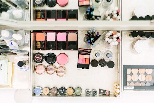Shop Talk: Blushington -photographed by Tim Melideo.need my makeup organized like this.