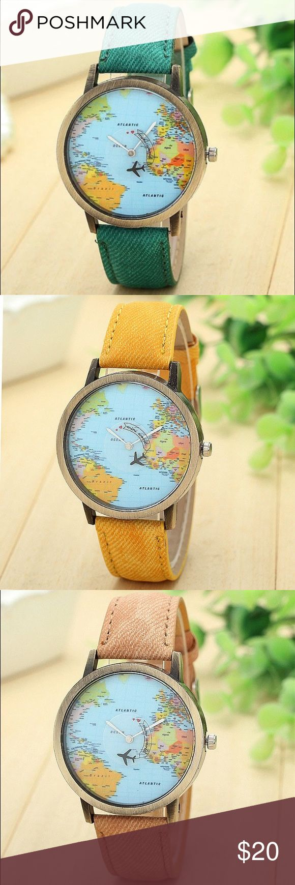 Those Who Wander World Map Watch Brand new world map watch. Ships same day if ordered by 10:00 CST. Bundle 3 items and save 15% Accessories Watches