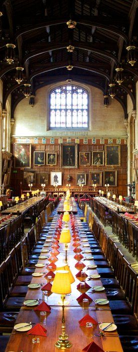 I'll be there soon!! Read: Harry Potter. Visit: The Great Hall at Christ Church, Oxford.