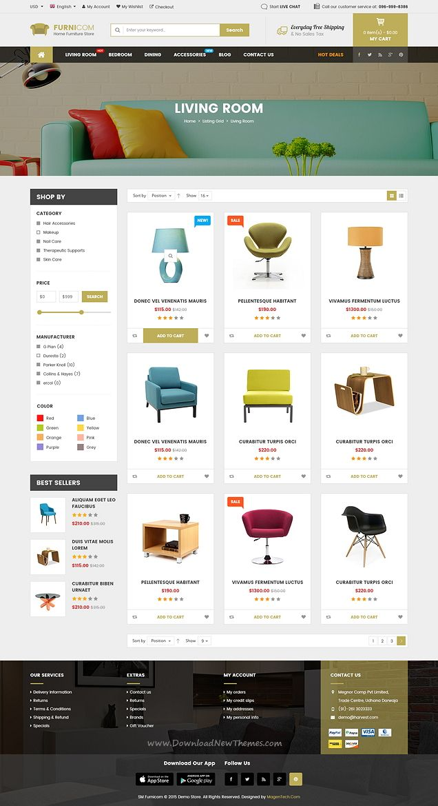SW Furnicom is a Responsive WordPress theme with the modern & clean design…