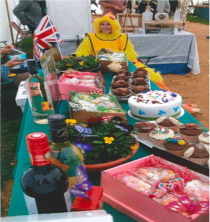 Some old photos from our lovely supporters. Chick out this stall. A fantastic array of cakes, plants, and drinks!