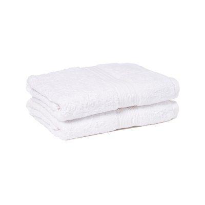 Winston Porter Peabody 2 Piece Bath Towel Set Color: White