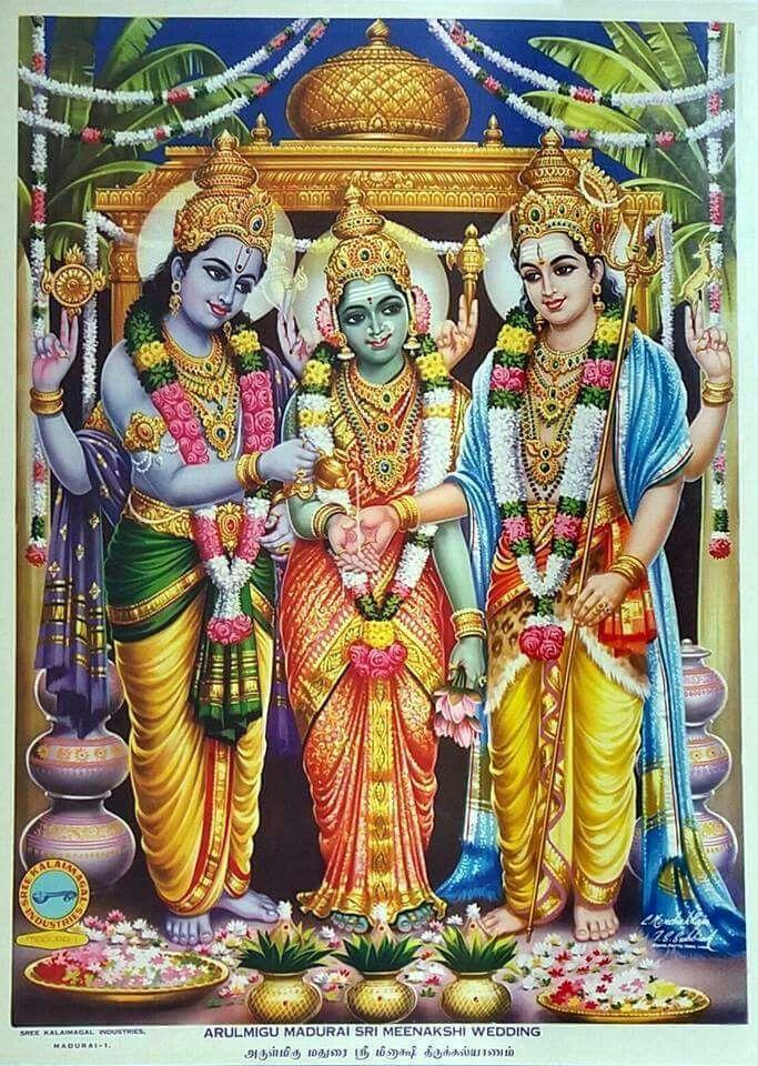When Maa Parvati born on earth (avatar) as Maa Meenakshi to rule Madurai, Lord Shiva also born on earth (avatar) as Lord Sundareshwar and marry her. Lord Vishnu (Alagar) gave Maa Meenakshi's hand to Lord Sundareshwar ( hindu wedding ritual done by bride's brother). Hence Lord Vishnu known as the brother of Maa Parvati .