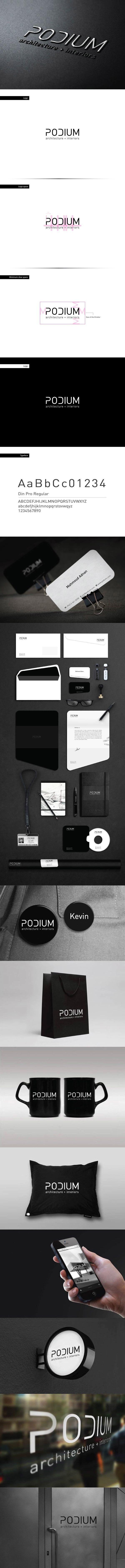 Podium by Mahmoud Alkhawaja, via Behance | #stationary #corporate #design #corporatedesign #identity #branding #marketing < repinned by www.BlickeDeeler.de | Take a look at www.LogoGestaltung-Hamburg.de