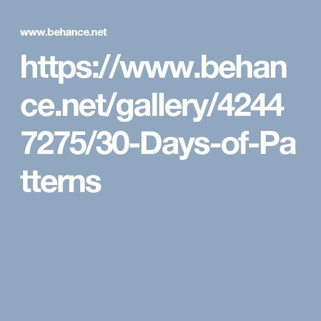 https://www.behance.net/gallery/42447275/30-Days-of-Patterns