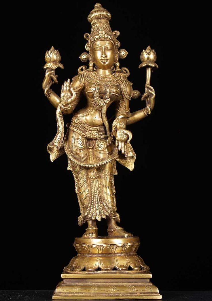 Brass Laxmi Hindu Goddss Of Wealth 19