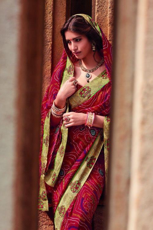 Indian saree.
