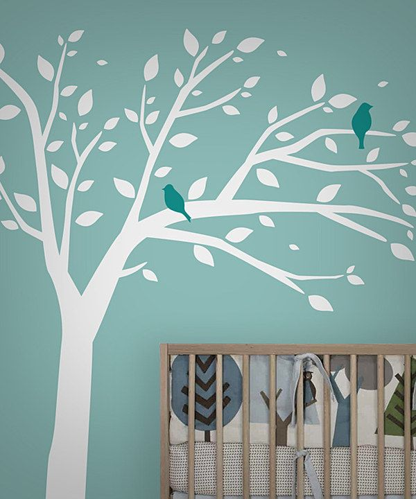 Look at this #zulilyfind! White & Blue Bird Tree Wall Decal Set by looksugar* #zulilyfinds