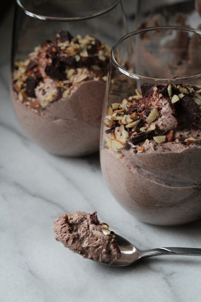 Dark Chocolate  Almond Mousse