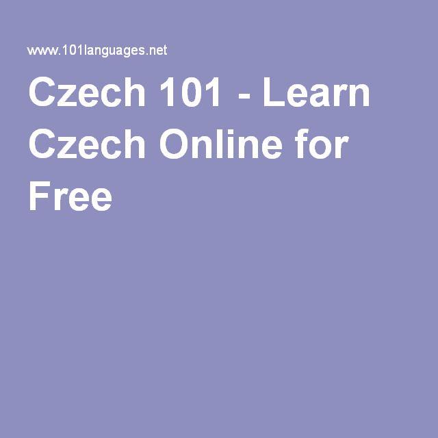 Czech 101 - Learn Czech Online for Free