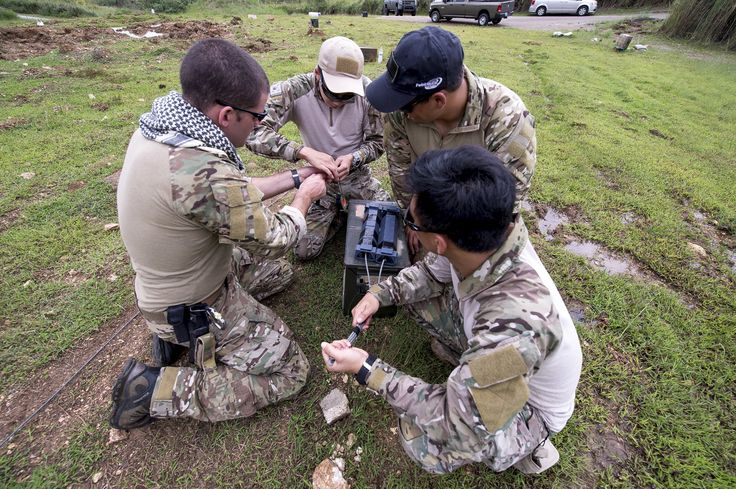 One of the many responsibilities of Navy EOD Technicians is to provide training and assistance for military, federal, state and local civilian law enforcement agencies in Anti-Terrorism/Force Protection procedures.