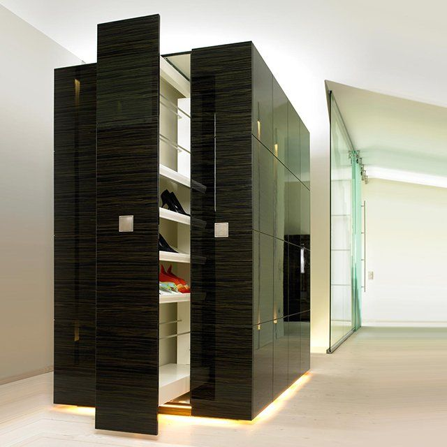 Hovering Shoe Cabinet by Bartels - It's like a giant spice rack made for #shoes! #ryanwhyte