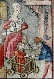 Medieval baby walker