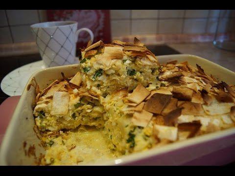 Пирог с яйцом и зелëным луком из лаваша.