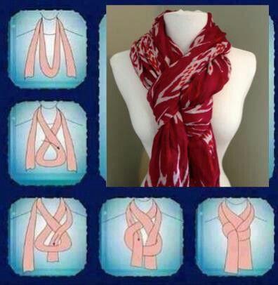 Tying a scarf