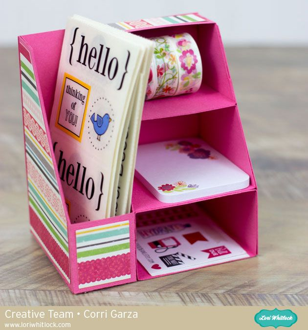 Hi everyone! Corri here today sharing a quick assembly tutorial for the new Magazine Holder with Shelves.  This is such a fun project to put together. Cut all the base pieces from card stock. I ...