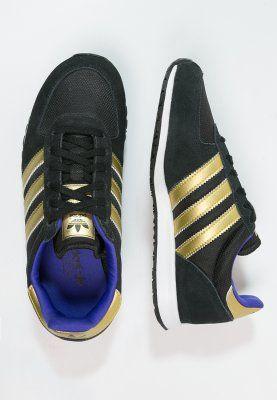 adidas Originals - ADISTAR RACER - Tenisówki i Trampki - core black/gold metallic/night flash