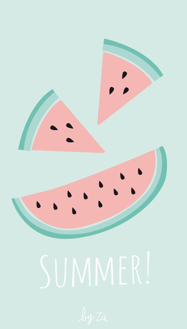 Happy Summer Fruits iPhone Wallpaper @PanPins