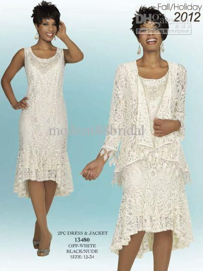 Elegant Crew Neck White Lace With Long Sleeves High-Low Mother Of the Bride Pant Suits Mother Dress DH57 Online with $101.88/Piece on Modern88bridal's Store   DHgate.com