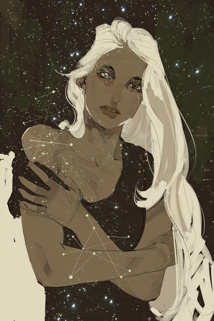 Cassandra Jean's postcard for Lady Midnight release: Emma transparent against the night sky