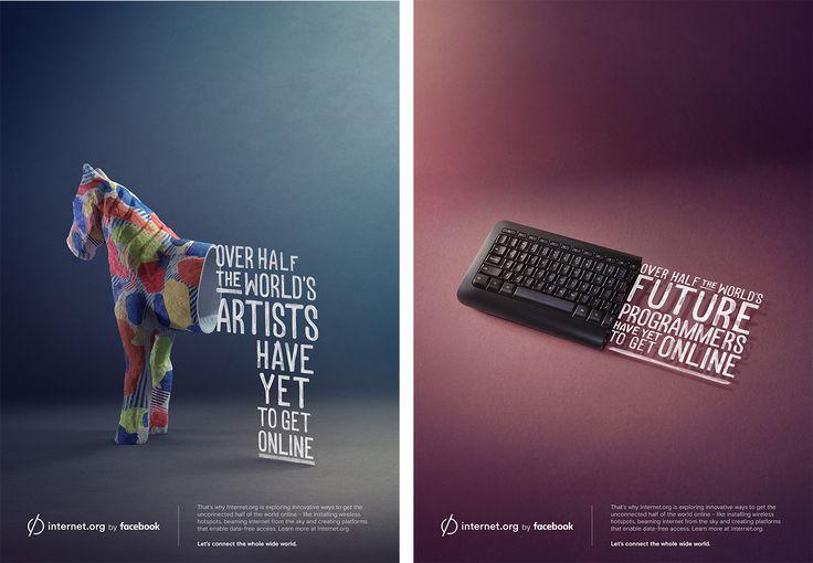 Digital Art and Advertising: Internet.org by Facebook