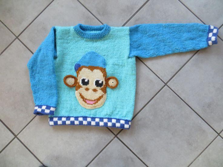 En politi abe, 6 år, superwash uld