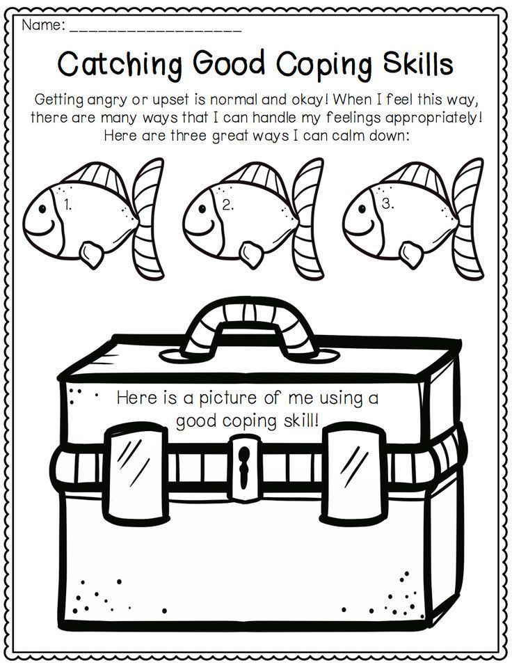 Coping Skills Activities For Emotional Regulation Lessons