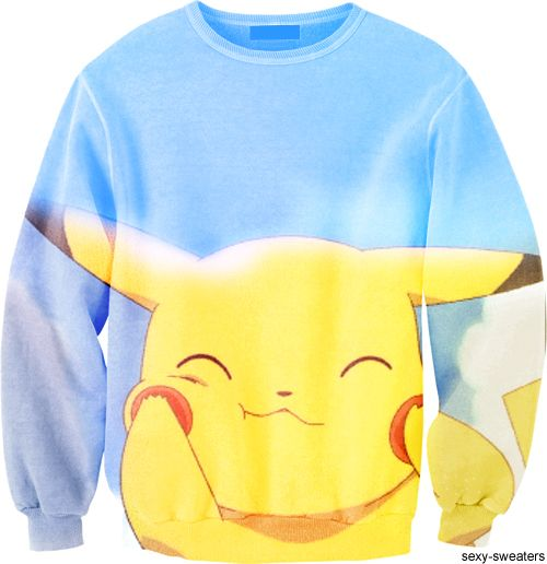 I loveee pikachu! I want this sweatshirt to lounge in