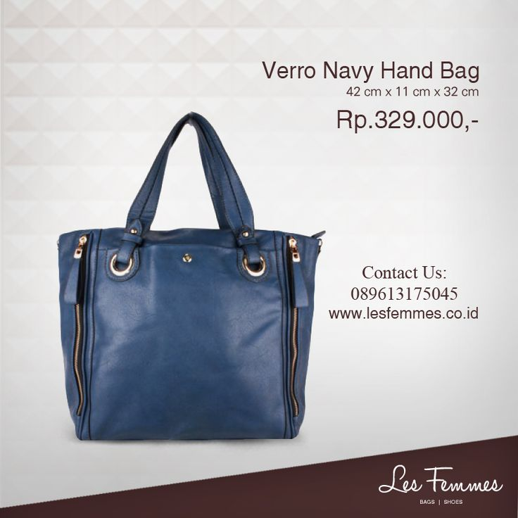 Verro Navy Hand Bag 329,000 IDR #Fashion #Woman #bag shop now on http://www.lesfemmes.co.id/hand-bags/verro-navy-hand-bag