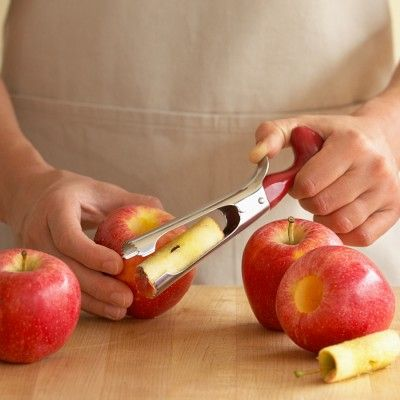 Apple Corer, quick tool for all the apples picked. #WilliamsSonoma