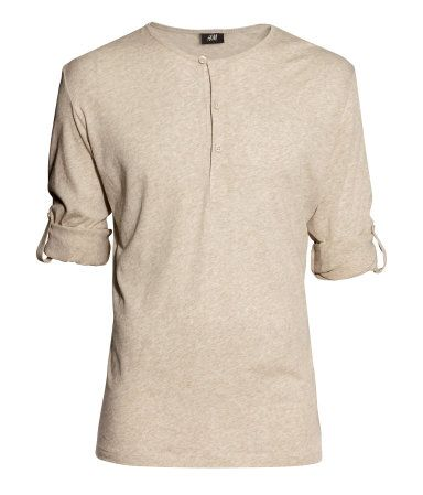 Henley Shirt | Beige | Men | H&M US