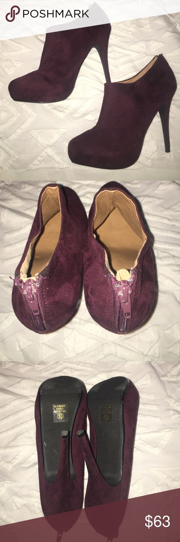 Party shoes Soft and cute purple high heels for a night out! Only worn once, and it's still in such a great condition. Shoes Heels