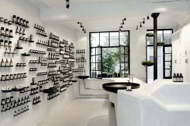On our next trip to Paris we're planning a visit to the futuristic Marais outpost of Australian company Aesop. Designed by Ciguë, Aesop's new