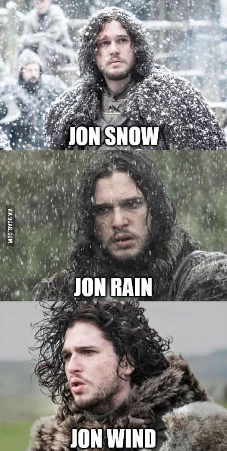 Only Game of Thrones fans will understand this. #youknownothingjonsnow