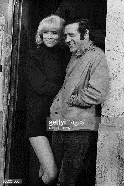 French actors Mireille Darc and Jean Yanne on the set of Laisse... #valse: French actors Mireille Darc and Jean Yanne on the set of… #valse