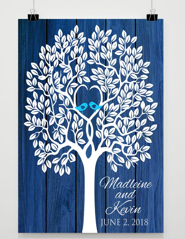 Wedding Tree Guestbook Poster - Unique Wedding Guestbooks