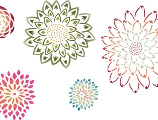 Royal Design Studio Stencil ~ Japanese Flower Garden.