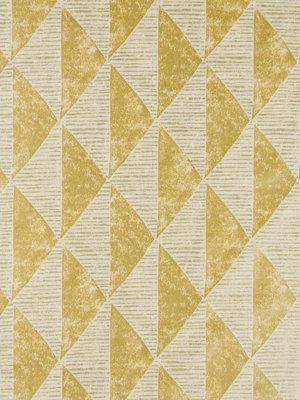 Oro geometrico tappezzeria tessuto  Metallic di PopDecorFabrics