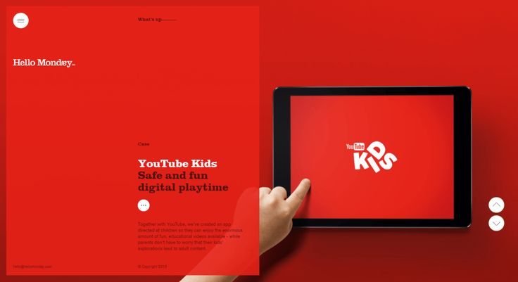 web trend - Vertically split website layout inspiration - Hello Monday
