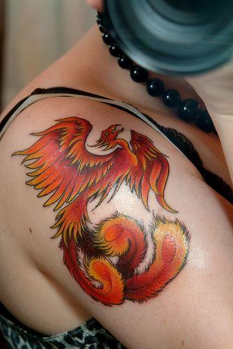 Symbolic Phoenix Bird Tattoos from: http://www.coolanimaltattoos.com/symbolic-phoenix-bird-tattoos