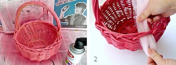 M s de 1000 ideas sobre canasta de cumplea os en pinterest - Como decorar una cesta de mimbre ...